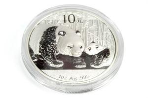 China Panda Silbermünze 10 Yuan