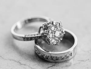 Weissgold Diamantring